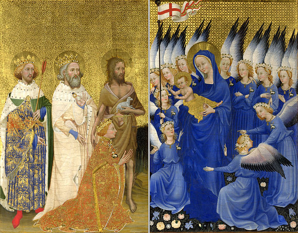 Unknown (English or French) - Derivative of Image:The Wilton Diptych (left).jpg and Image:The Wilton Diptych (Right).jpg