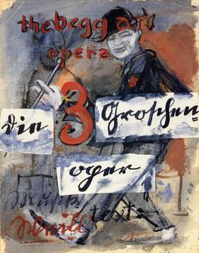 A low resolution copy of a Billboard Poster, Die Dreigroschenoper The Threepenny Opera.