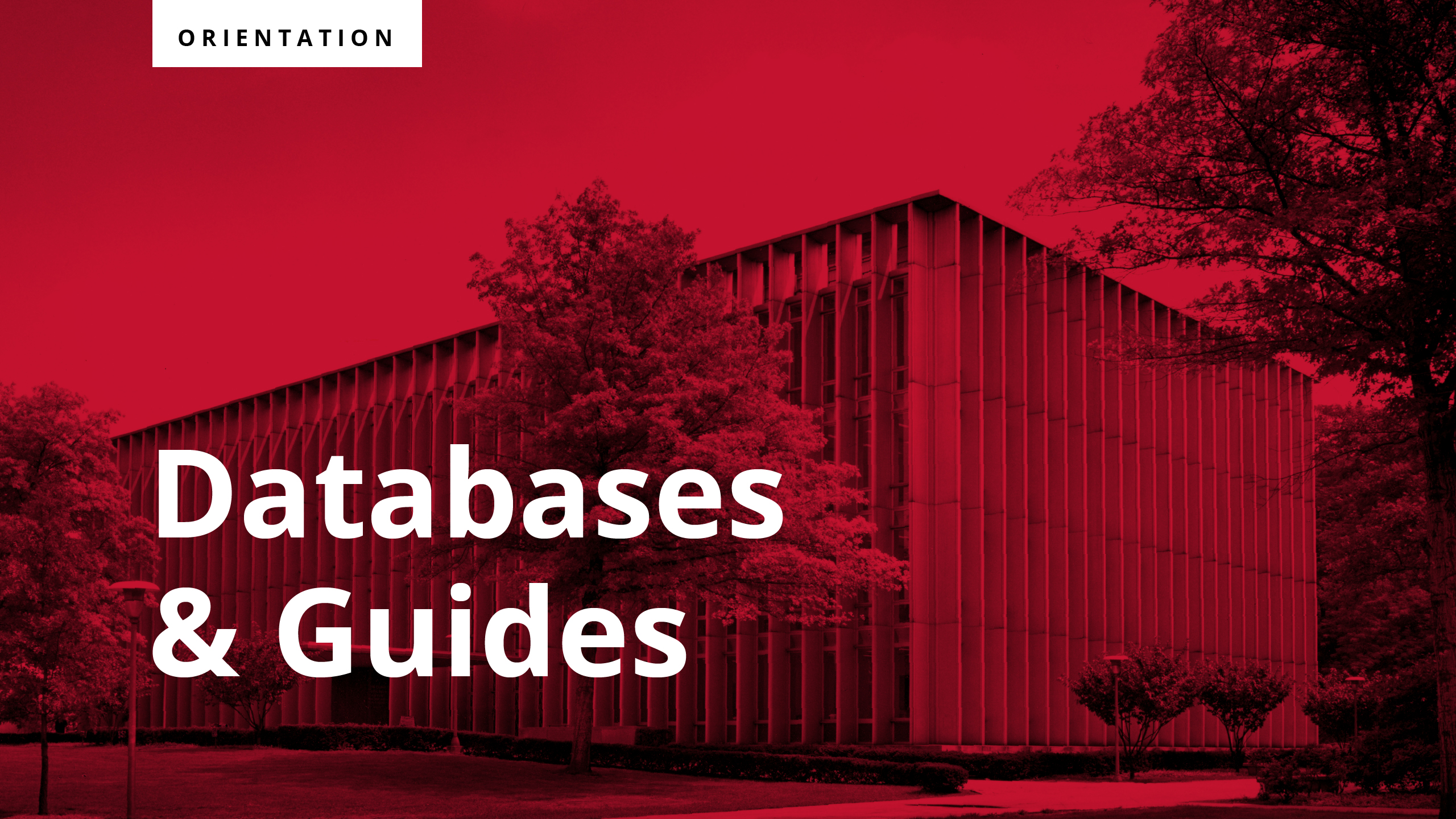 Click on this tutorial slide to view a video on how to search Databases and Guides
