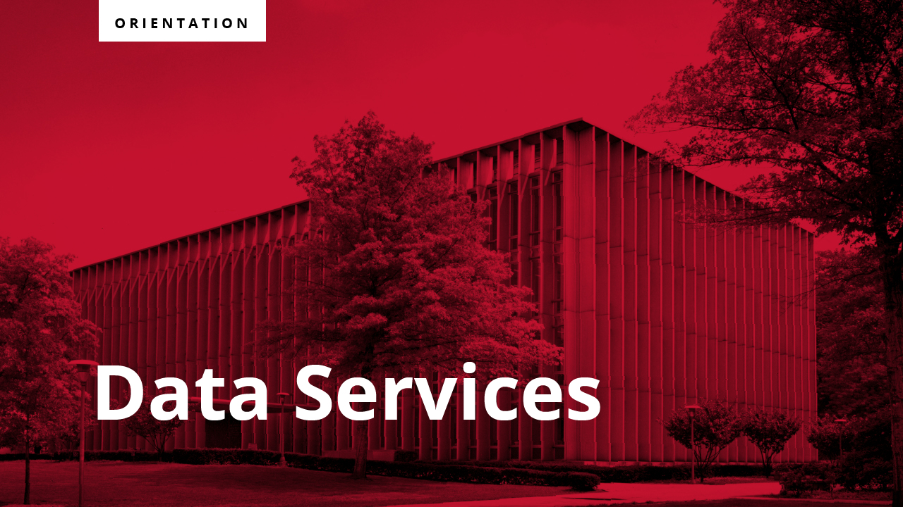 This is a short video introducting Data Services at Carnegie Mellon University