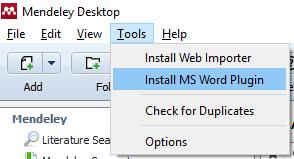 Install MS Word Plugin screenshot