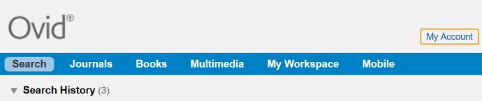 Medline - My Account link