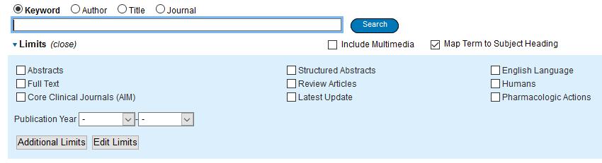 Medline - Search limits