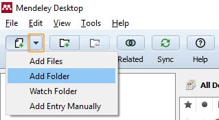Mendeley add folder