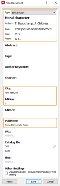 Manual entry - Book Chapter authored