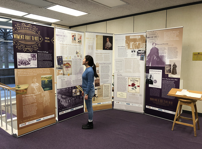 NY State Women's Suffrage Exhibit