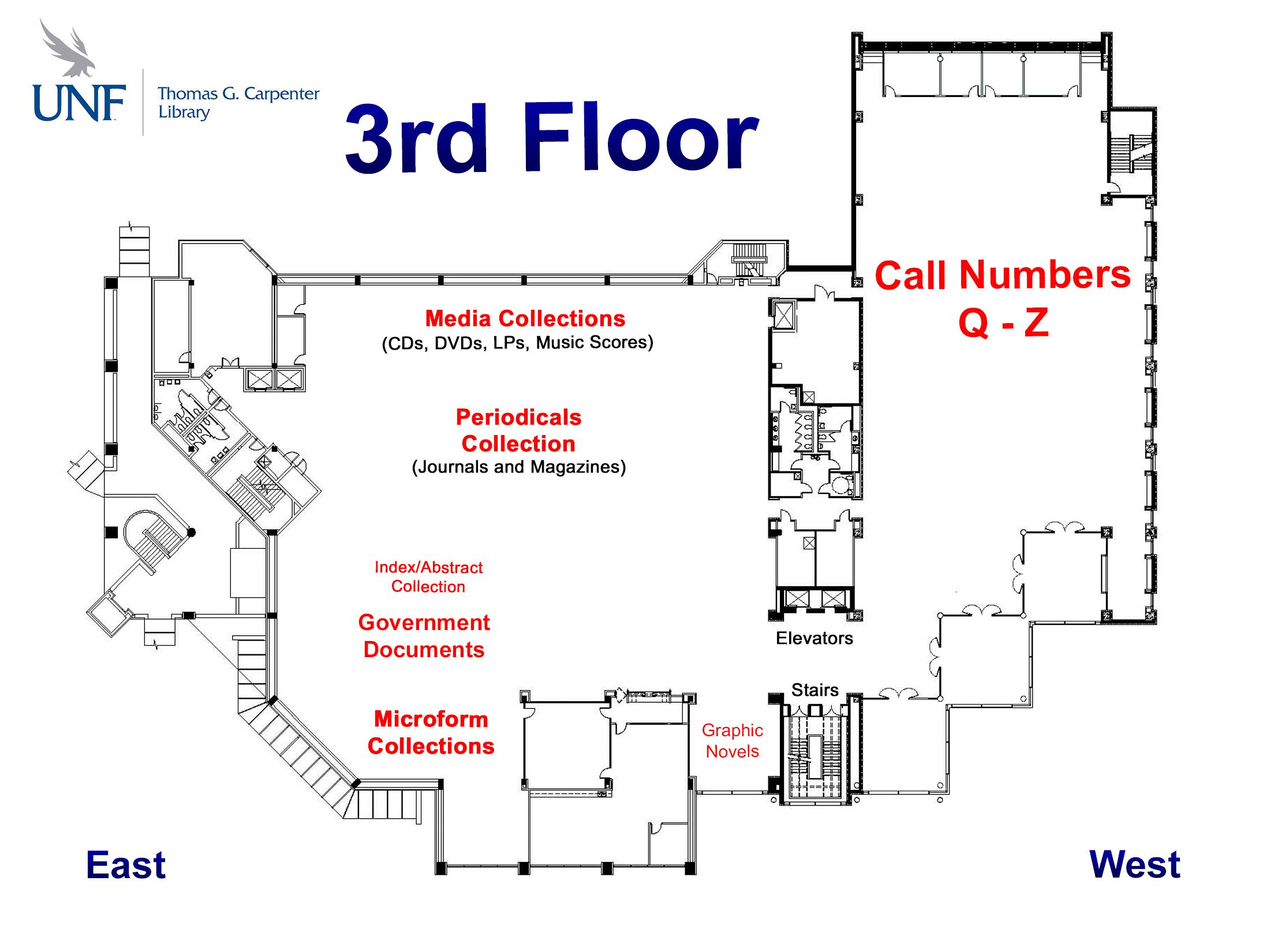 3rd Floor Map