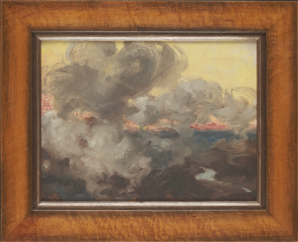 Bushfire sketch. William Strutt