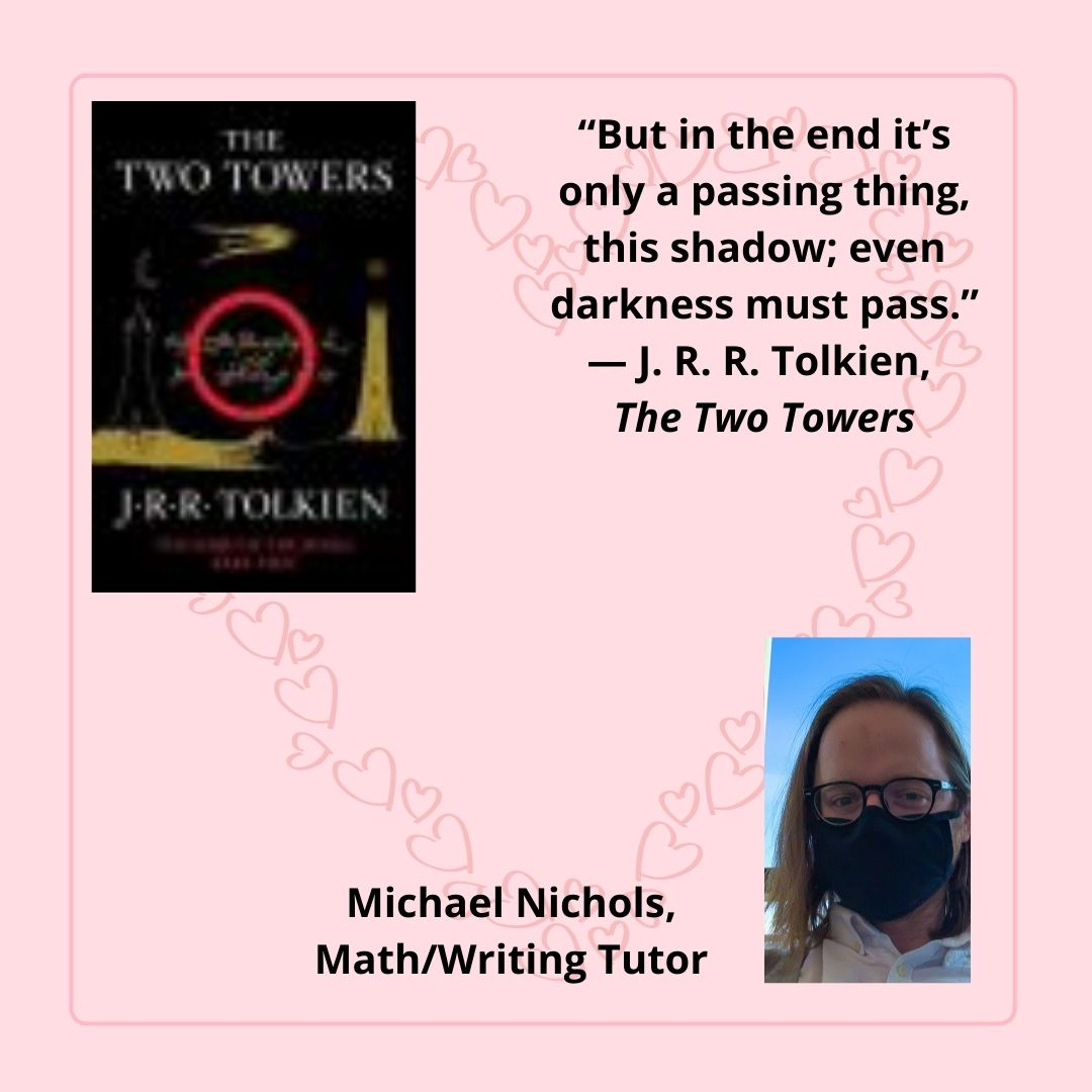 The Two Towers by J. R. R. Tolkien chosen by Michael Nichols