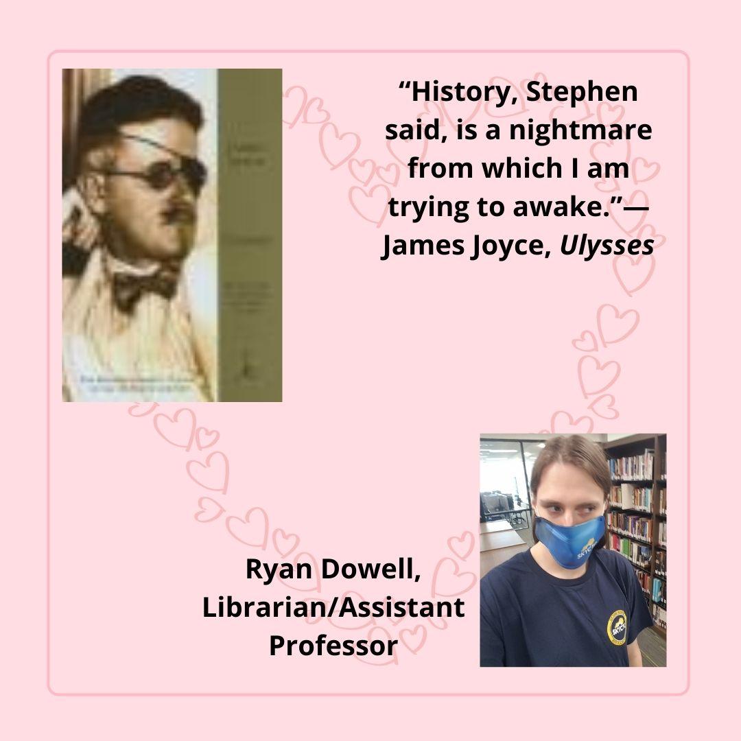 Ulysses by James Joyce chosen by Ryan Dowell