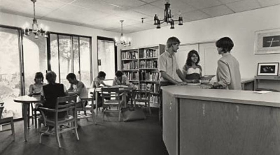 Library, Wilshire Campus 1980s