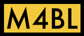 "M4BL ""movement for Black lives"" simple black letters on yellow background"