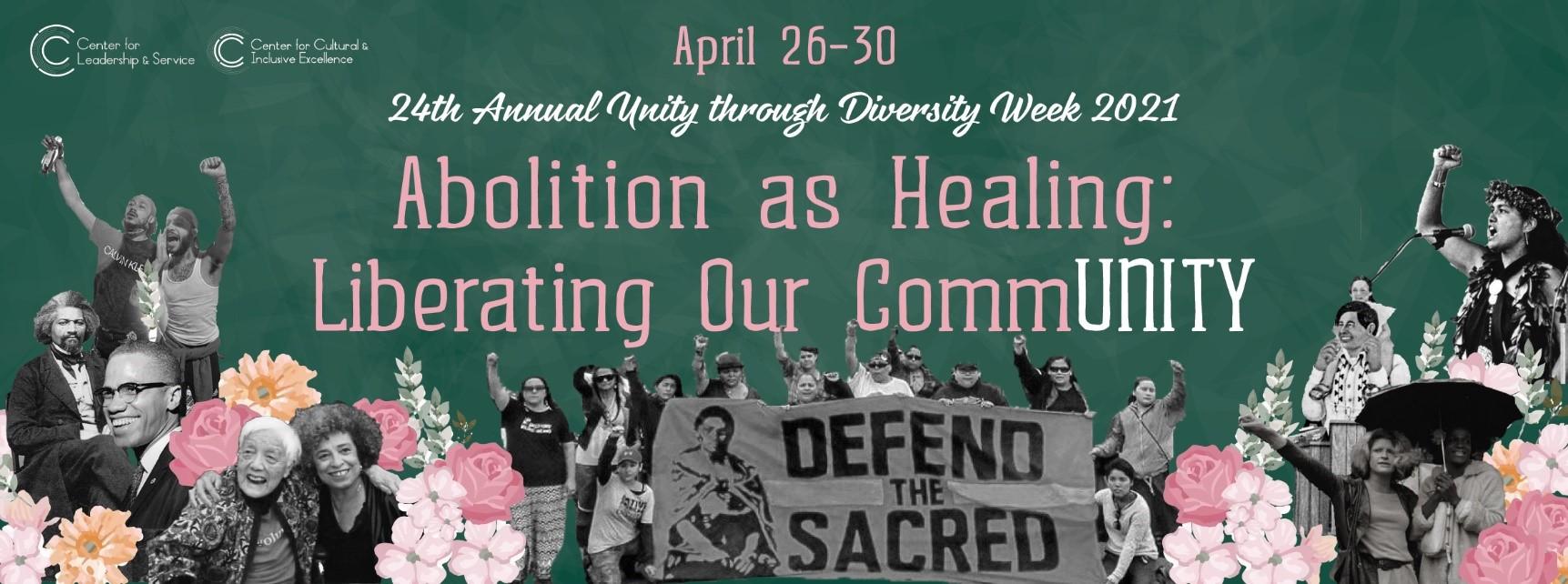 Figure 1. Unity Week Poster, Evergreen Background
