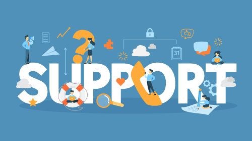 Image that says Support which represents Provider Support page