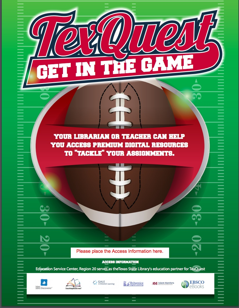 TexQuest Football Seasonal Flyer