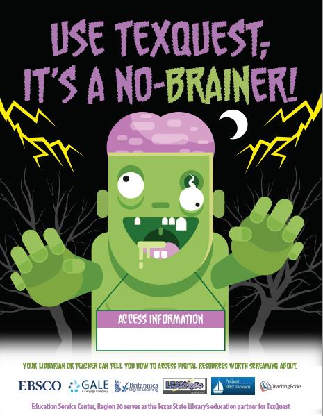 TexQuest Zombie Seasonal Flyer