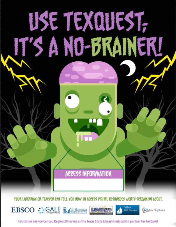 TexQuest Halloween Seasonal Flyer