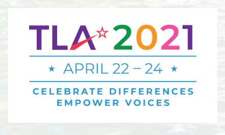 Texas Librarian Association conference 2021 logo