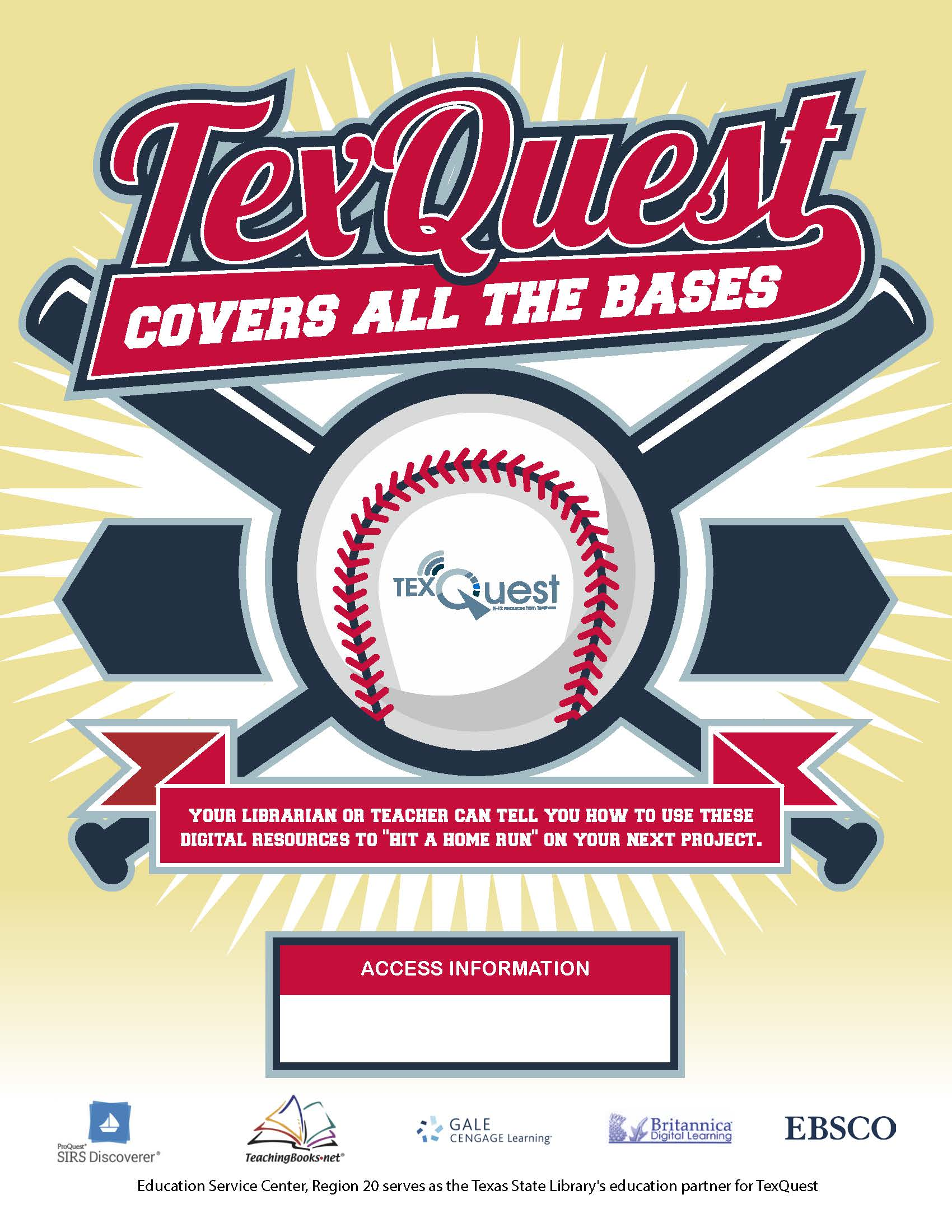TexQuest Baseball Seasonal Flyer