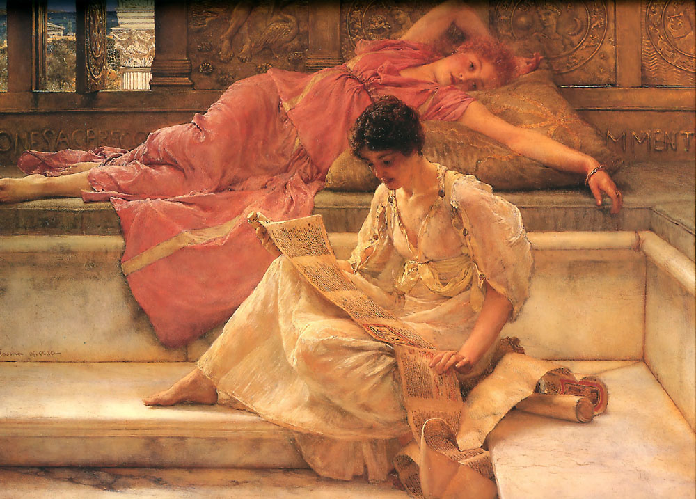 Favorite Poet by Sir Lawrence Alma-Tadema