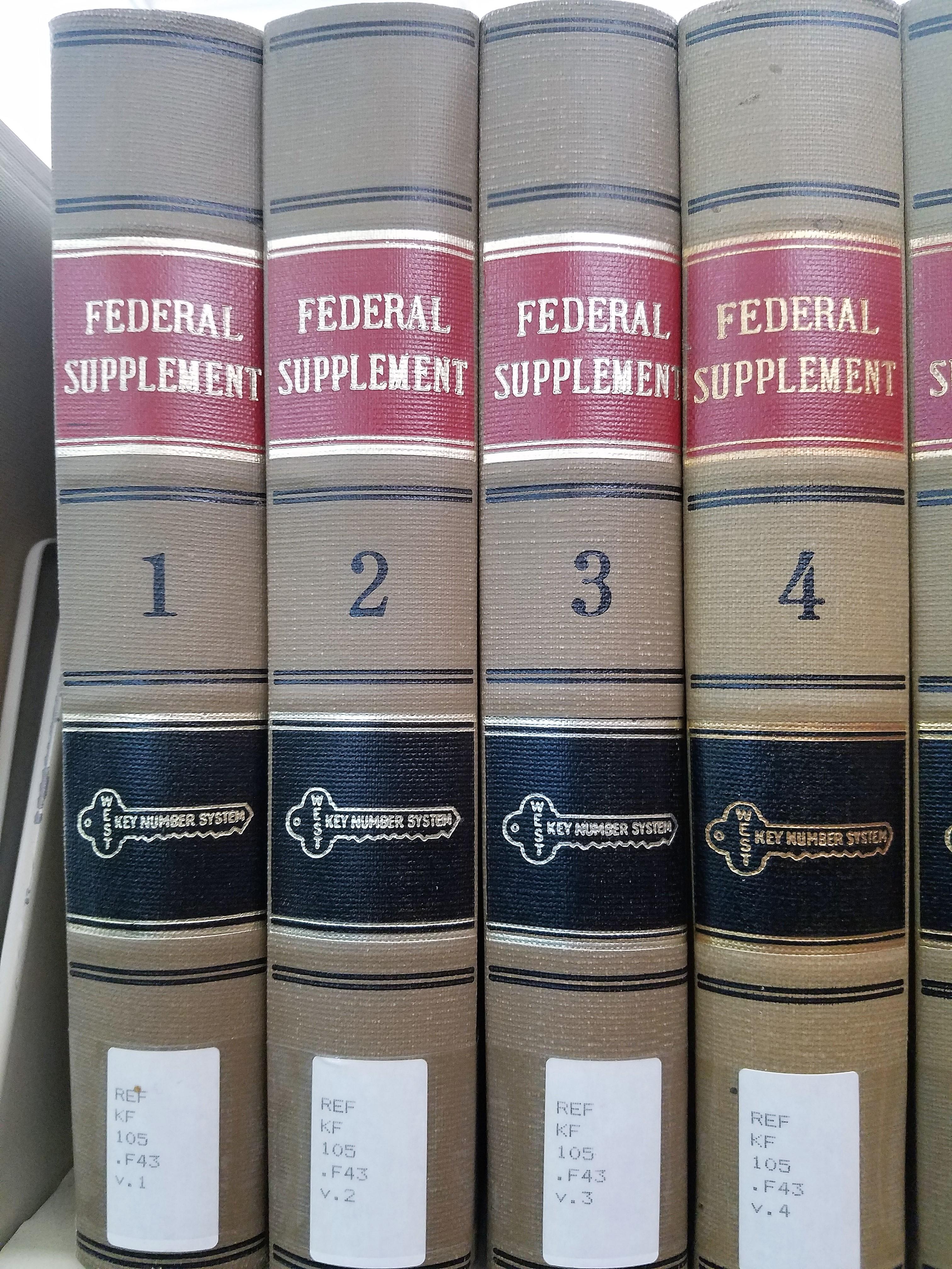 Federal Supplement
