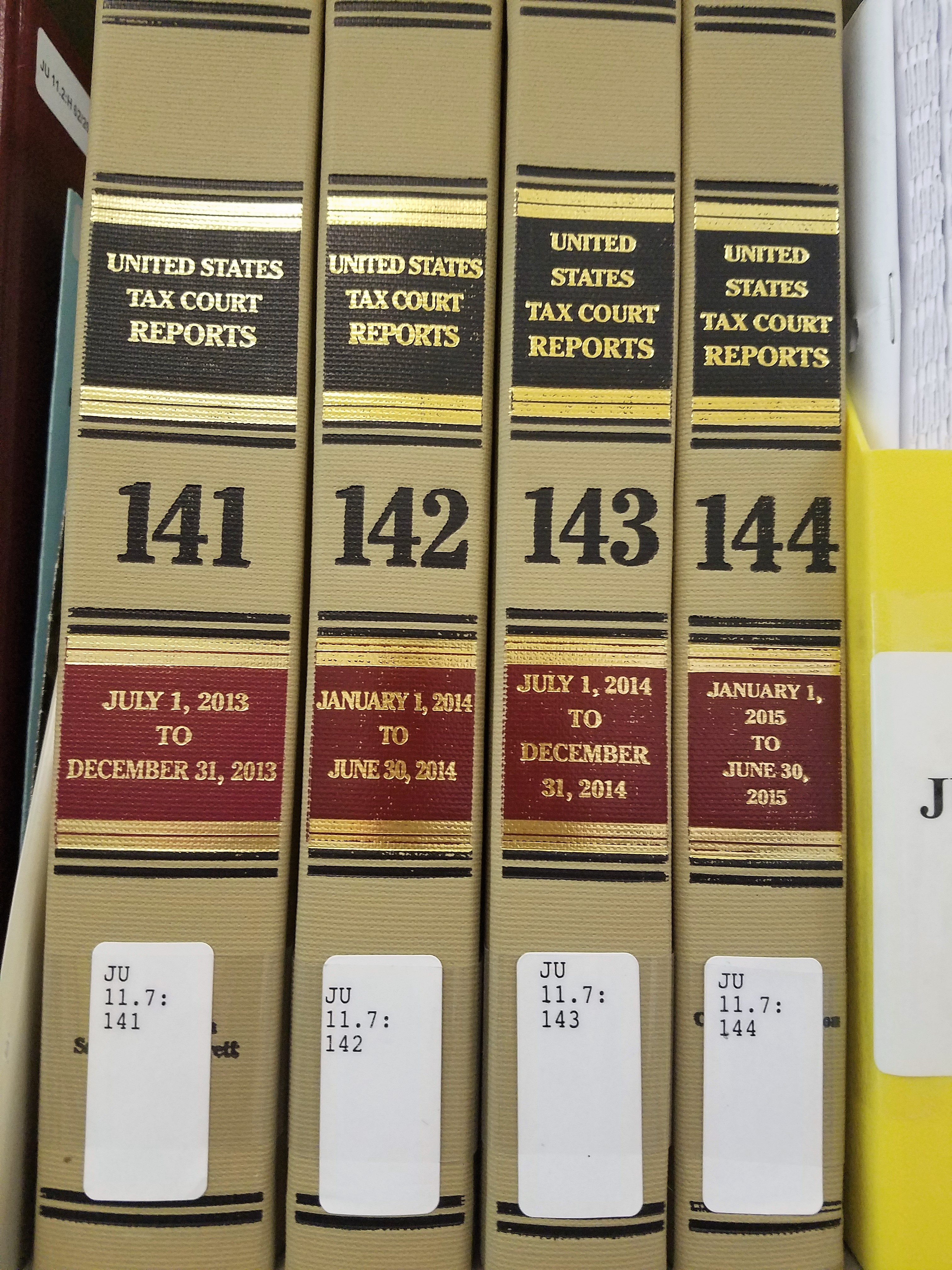 Reports of the U.S. Tax Court
