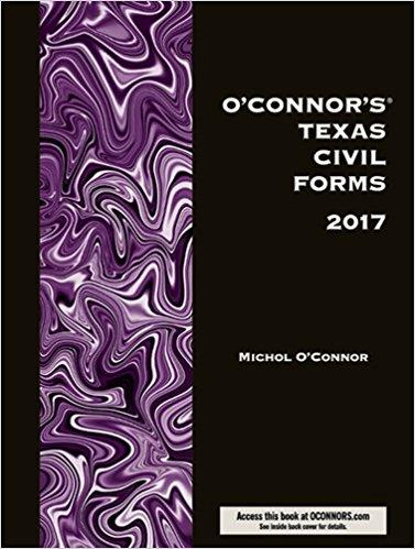 O'Connor's Texas Civil Forms