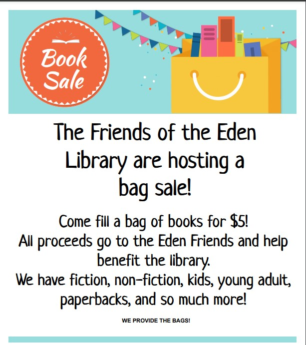 Friends of the Library Bag Sale Book Sale Fill up a bag of books for $5.