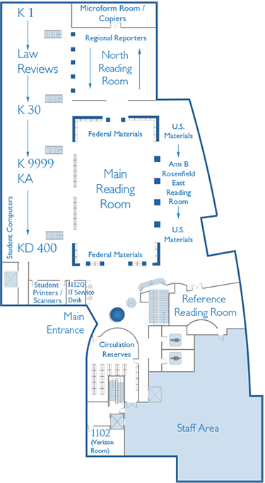 Law Library Circulation Desk Map