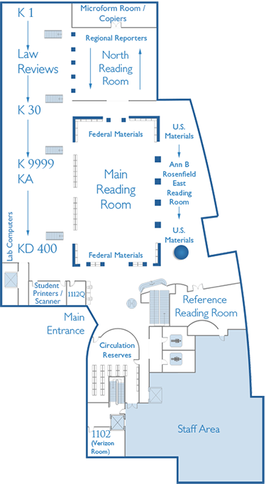 First Floor Map East Reading Room