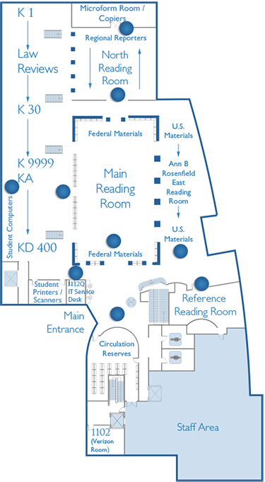 Law Library First Floor Map