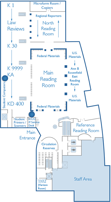 1st Floor Map Student Computer Lab