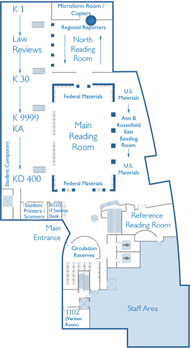 First Floor Map Microform Room