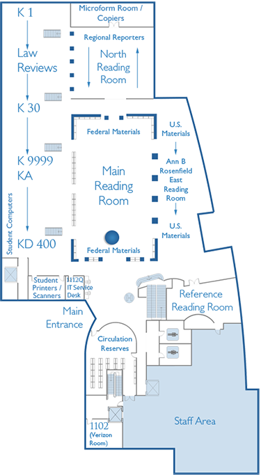 First Floor Map Main Reading Room