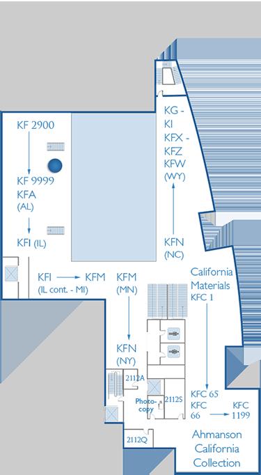 2nd Floor Map Stacks KF2900 - 9999