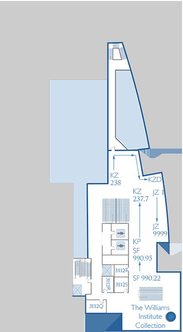 Third Floor Williams Institute Map