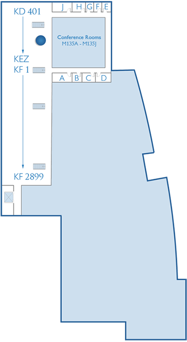 Mezzanine Level Conference Rooms Map