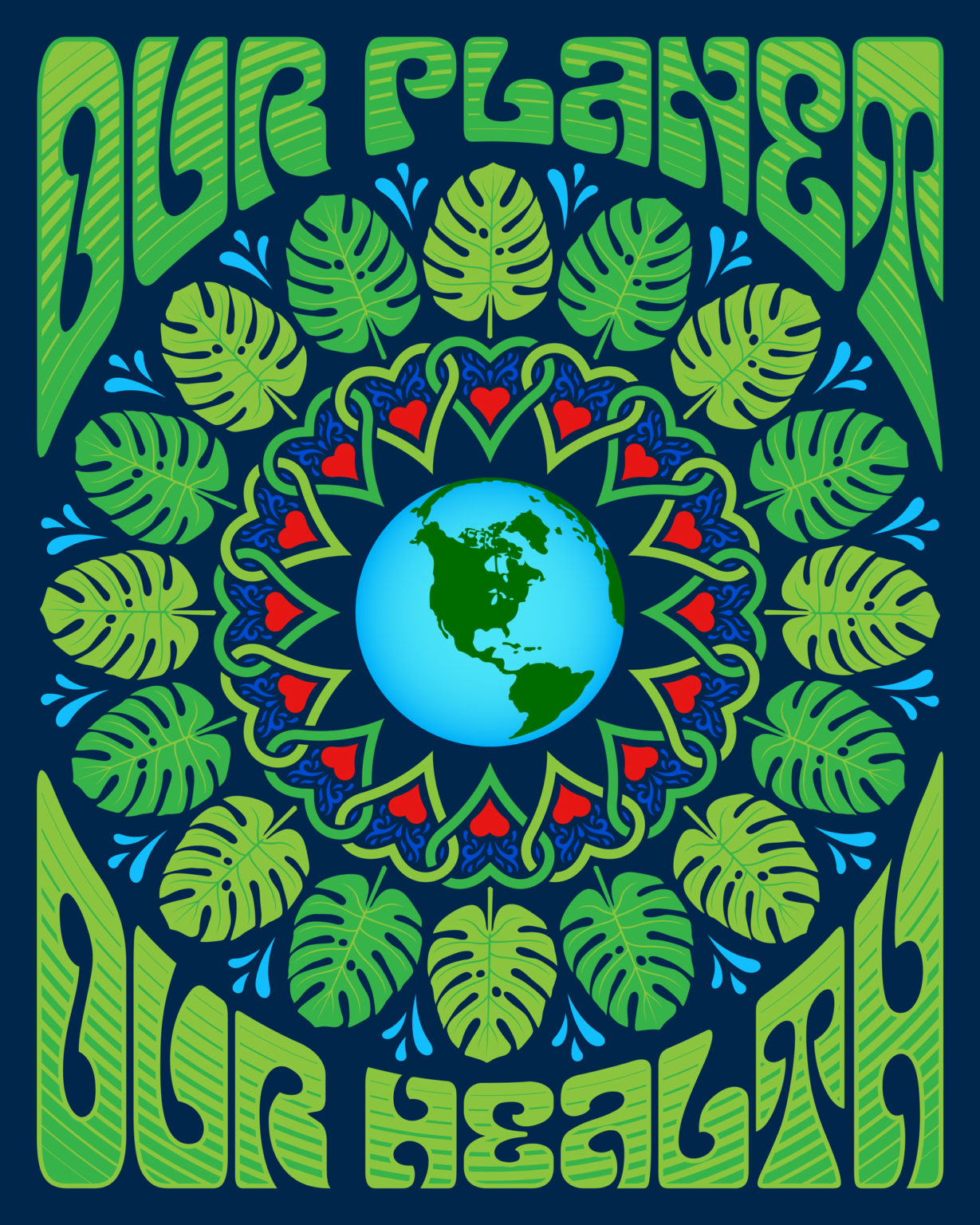Our Planet, Our Health - Earth Day 2020 poster