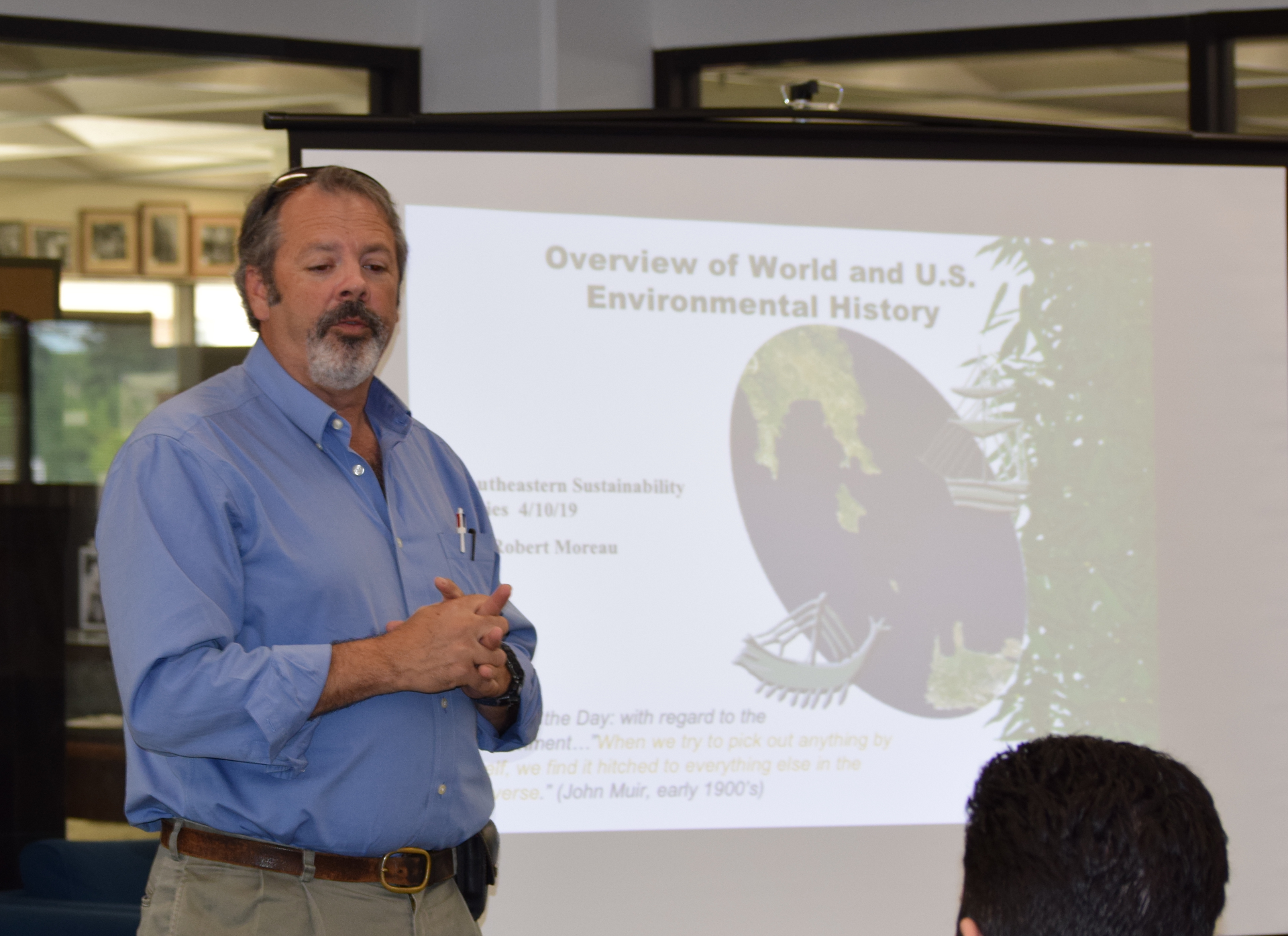 Dr. Robert Moreau discussed US Environmental History