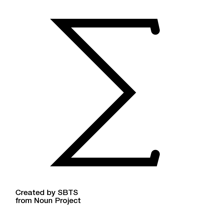 Sigma summation symbol