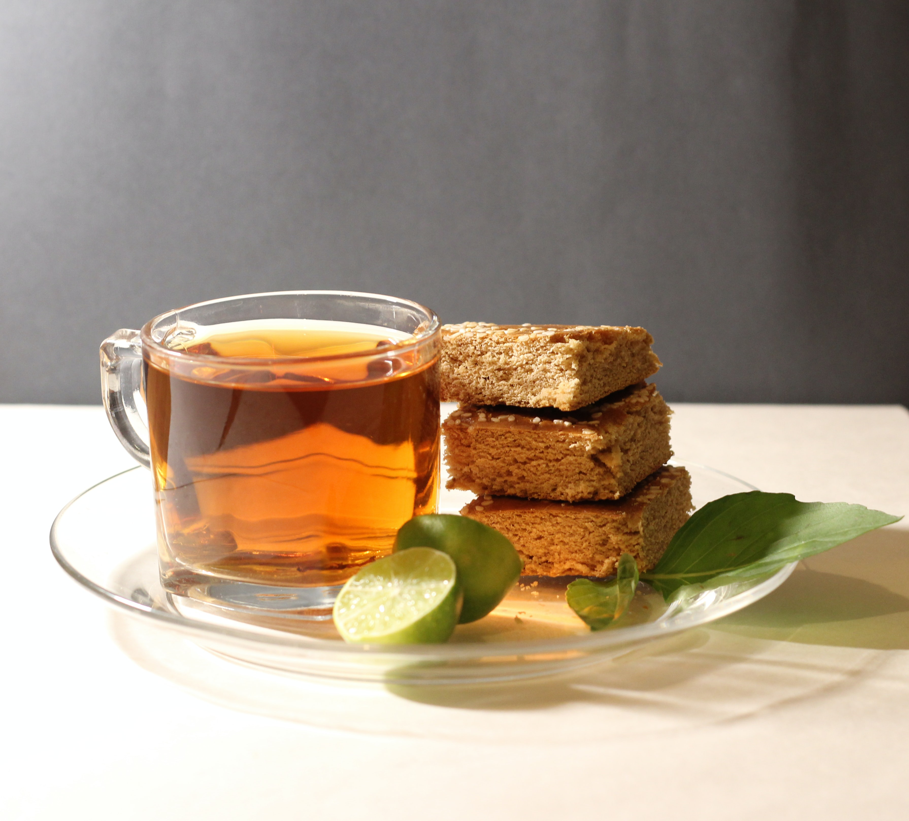 Photo of tea and baked good