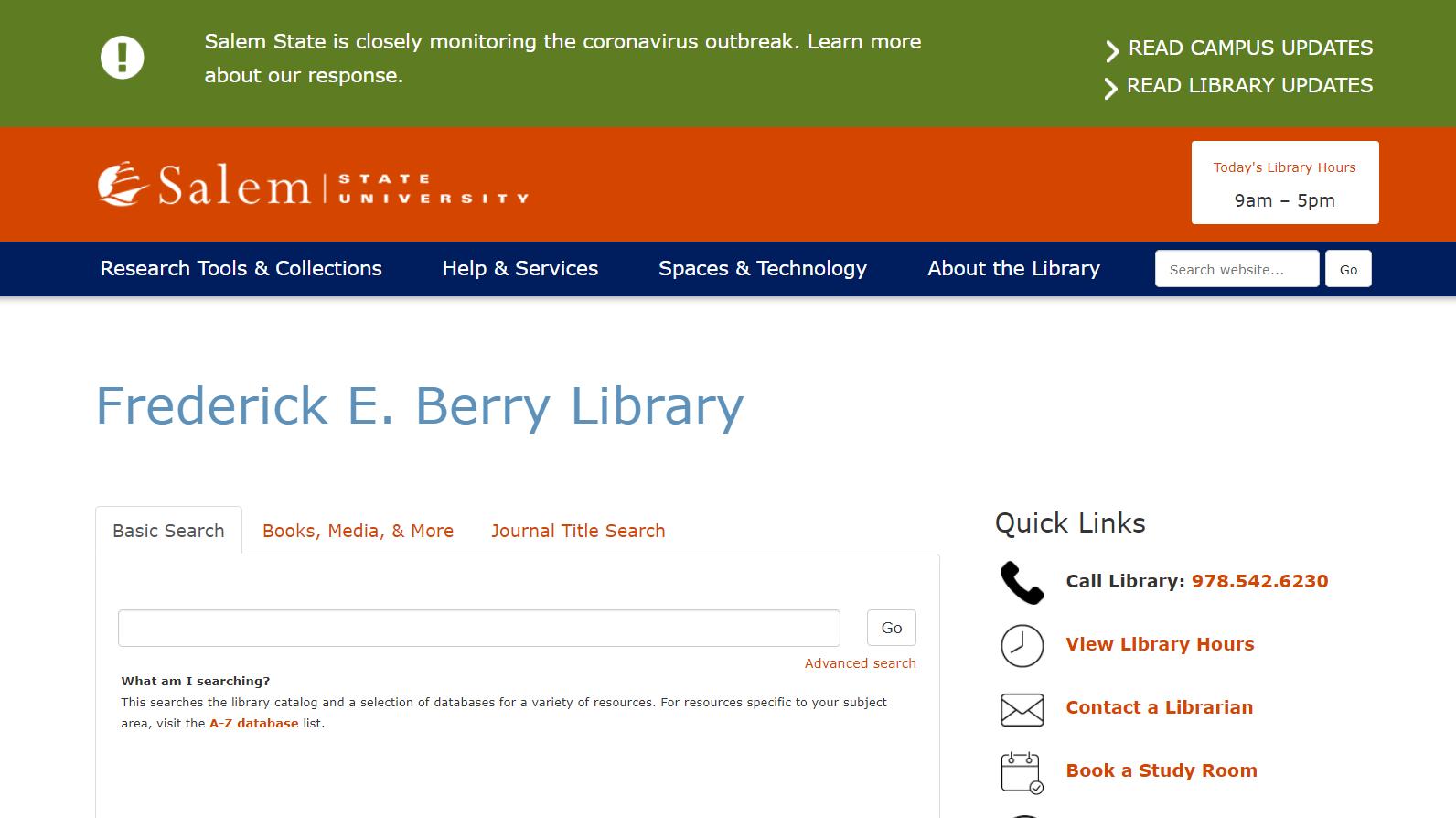 SSU Library Homepage