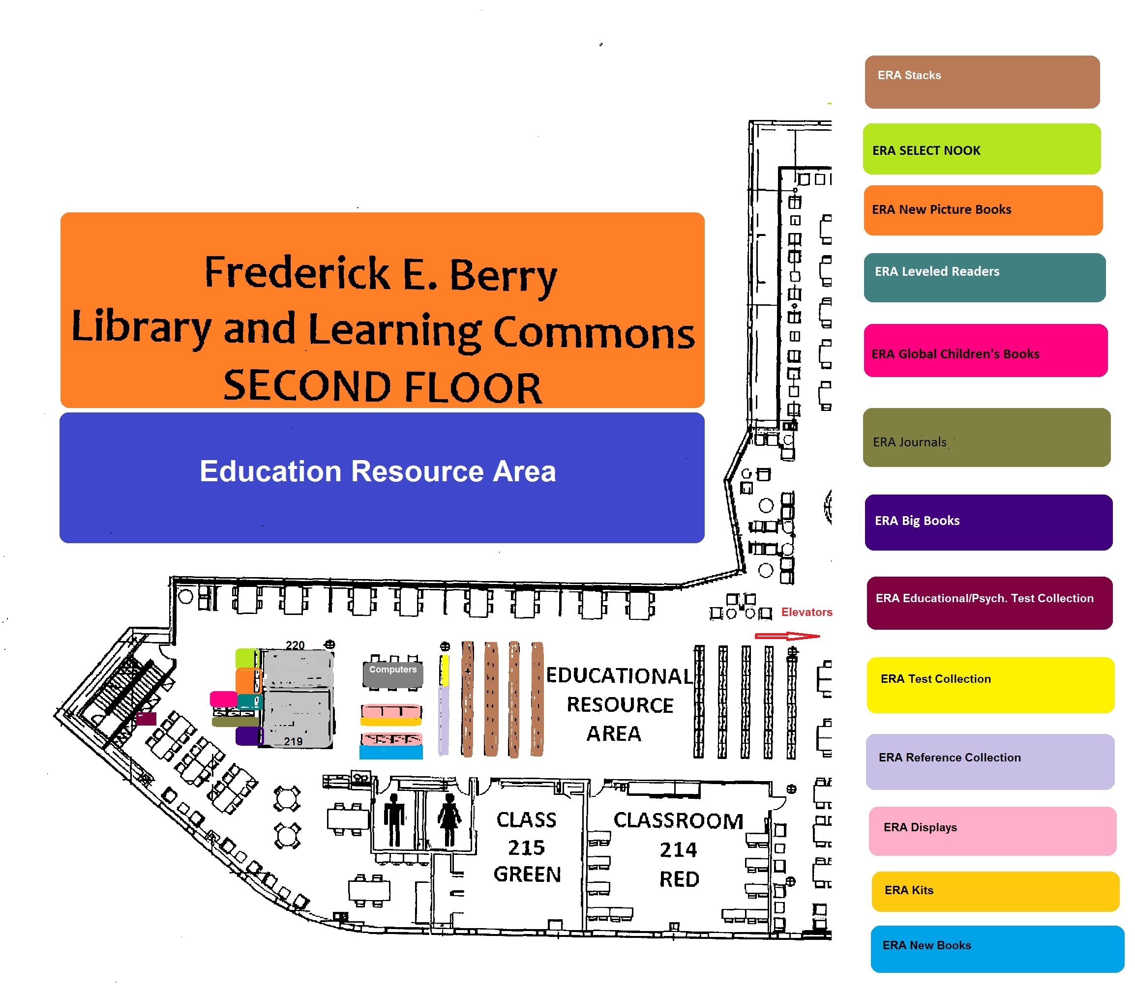 Education Resource Area Map