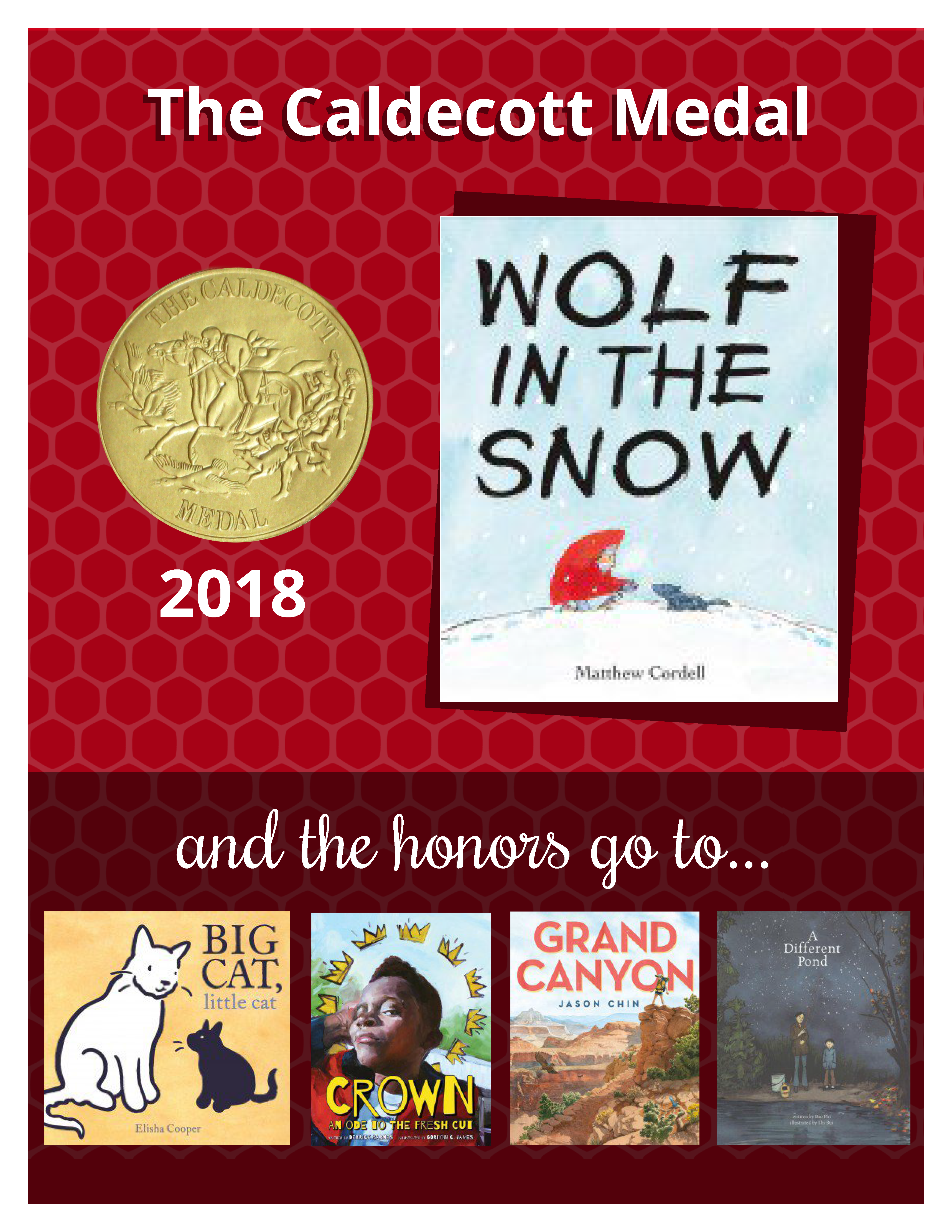 book covers of Caldecott Medal winners