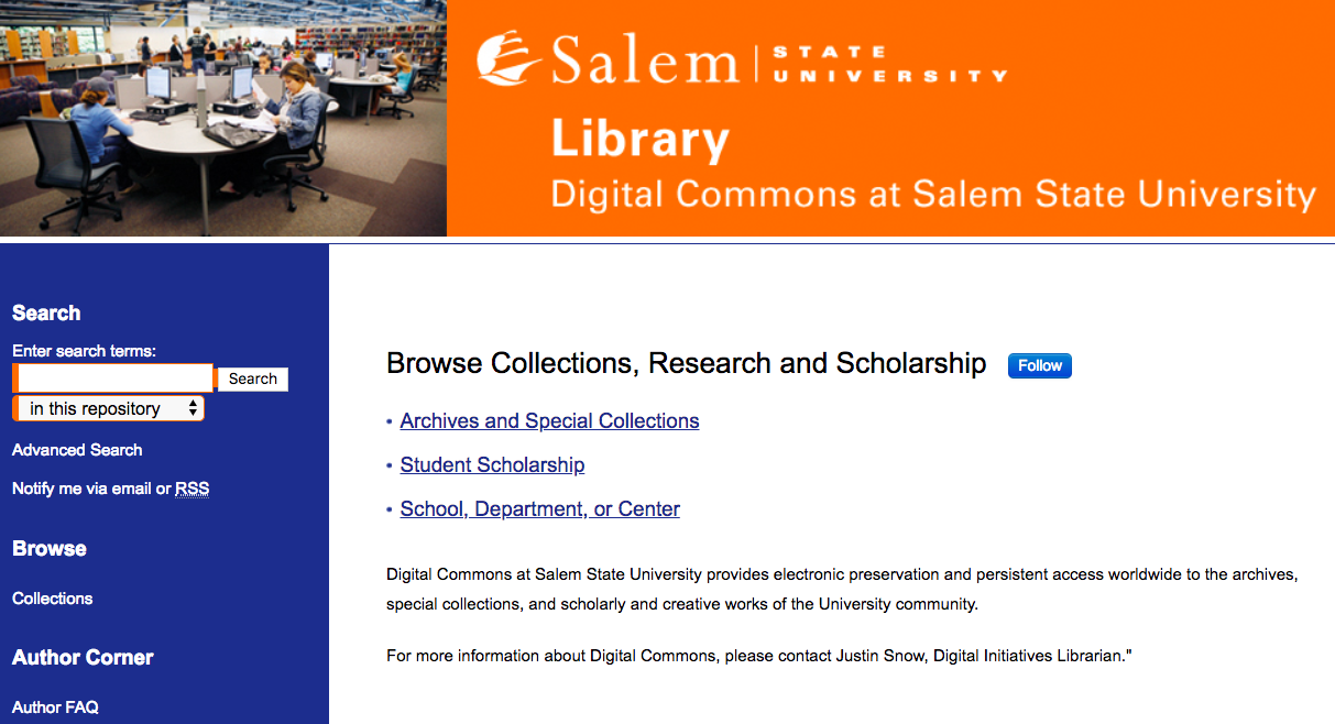 Digital Commons home page image