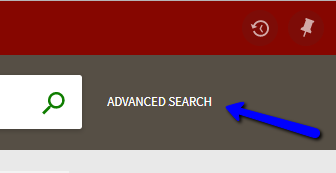 CLICsearch  Advanced Search button