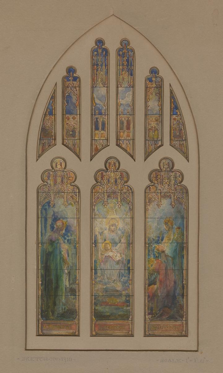 Suggestion for Window Rev. W. W. Memminger: Atlanta, Ga., Tiffany Stained Glass Studios, Ecclesiastical Department, 1923. CMGL 146018.
