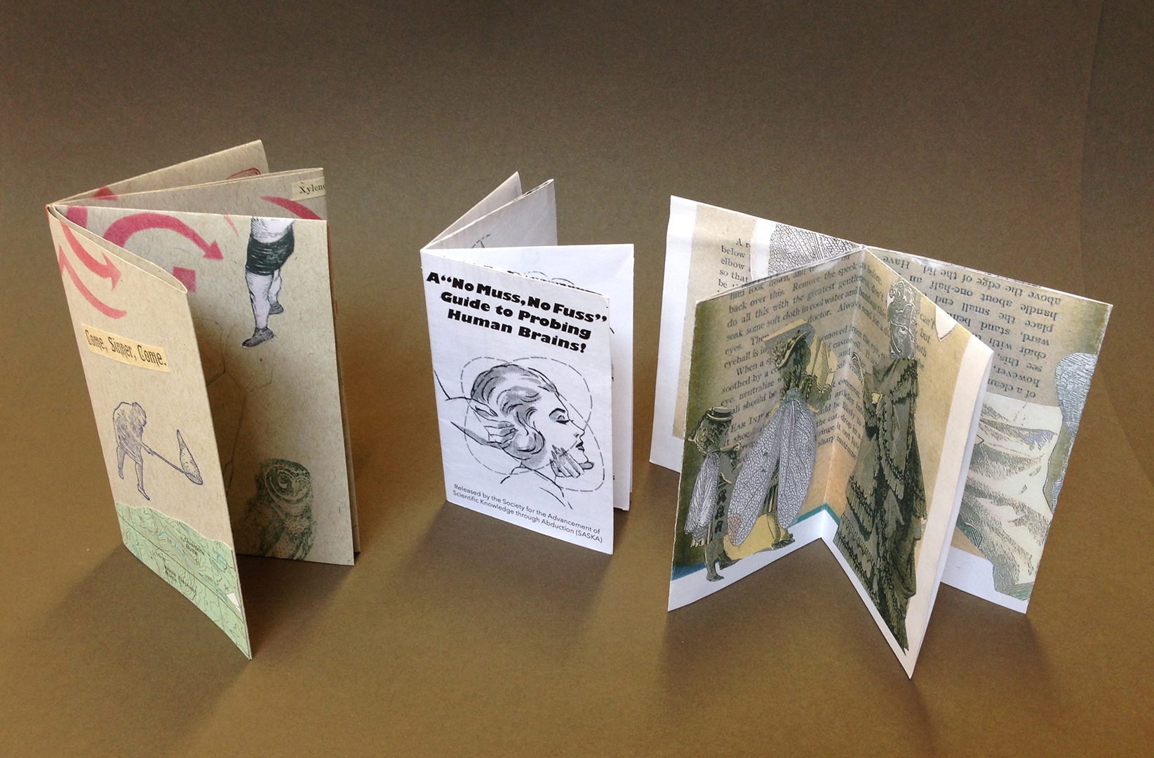 3 books each made from one sheet of paper