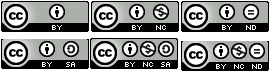 Symbols for all six Creative Commons licenses