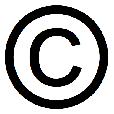 black and white copyright symbol
